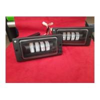 Противотуманные Led фары для ВАЗ 2110 с линзой алюминий диодные